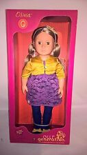 """New Our Generation Olivia 18"""" Doll fits American Girl Blonde Hair, Brown Eyes"""