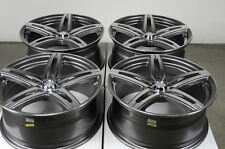 17 5x114.3 5x100 Gun Metal Wheels Fits Celica Optima Sentra Altima 5 Lug Rims
