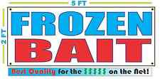 FROZEN BAIT Banner Sign NEW Larger Size Best Quality for the $$$ Fishing Shop