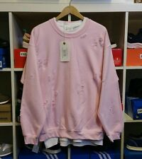 Distressed ripped baby pink sweatshirt by 9DEUCE Not lmdn Kanye yeezy L Large