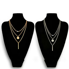 New Luxury Style Sequin Ladies Gold Chain Multilayer Short Necklace Pendant Gift