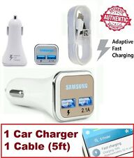 Samsung LED Adaptive Fast Dual USB Car Charger For Samsung S6 / S7 Note 4 / 5