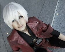 Unisex White Short DMC Devil May Cry IV 4 Dante Cosplay Wig Party Hair