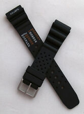 20 mm black PU rubber NDL watch strap to fit Seiko/Citizen etc divers watches