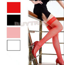 Expected Women Lace Stockings Large Fishnet Long High Skinny Hosiery Socks SP