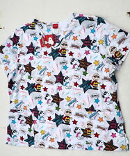 womens 2X Snoopy Scrub top shirt nursing scrubs uniform pediatric new peanuts