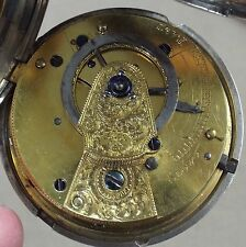 RARE LARGE  SILVER FULLHUNTER VERGE FUSEE DIAMOND ENDSTONE WATCH WORKING C1841