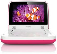 "Philips Pd7006p / 05 7 ""LCD Kids Pink Portable DVD PLAYER DIVX USB AFFARE * Ph6 *"