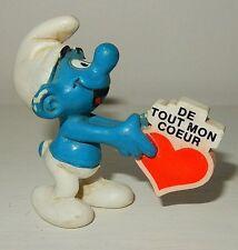 Figurine Schtroumpf Smurf SCHLEICH De tout mon coeur Vintage 1980
