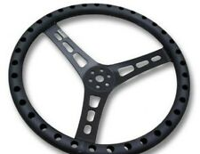 "JOES ALUMINUM LIGHTWEIGHT STEERING WHEEL 15"" FLAT #13535-B DRILLED IMCA LONGACRE"
