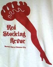 RED STOCKING REVUE THE WOMAN'S CLUB OF PANAMA CITY FLORIDA RARE VINTAGE XL SHIRT