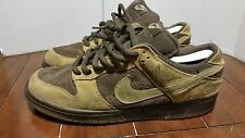 2003 Nike Dunk SB Brown Pack Size 11 SB Forbes Wheat Paul Brown Tweed Hunter