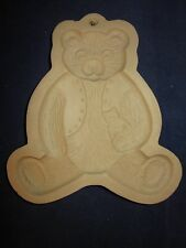 BROWN BAG Cookie Art Mold 1984 Bear Holding Toy