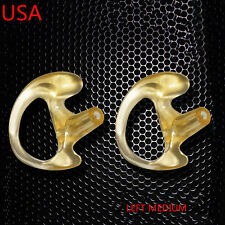 2 LEFT MEDIUM FLESH FLEXIBLE SEMI CUSTOM EAR MOLD INSERT RUBBER GEL EARPIECE PTT