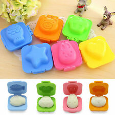 6 Set Boiled Egg Sushi Rice Mold Bento Maker Sandwich Cutter Decorating Mould FO