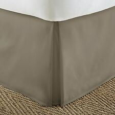 Pleated Bed Skirt Dust Ruffle by Soft Bedding Essentials - 14 Inch Drop