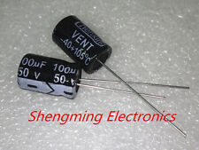 50pcs 100uF 50V 105C Radial Electrolytic Capacitor 8x12MM