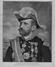 THE LATE GENERAL GEORGES ERNEST JEAN MARIE BOULANGER IN UNIFORM MEDALS HISTORY