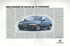 ▬► PUBLICITE ADVERTISING AD Car Voiture BMW 540i 2 pages 1996