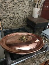 Ruffoni Hammered Copper Oval Roaster Au Gratin Pan With Lid NEW