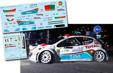 Decal 1:43 Bruno Magalhaes - PEUGEOT 207 S2000 - Rally Islas Canarias 2011