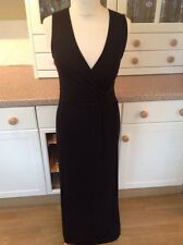 BEAUTIFUL EAST FULL LENGTH BLACK EVENING DRESS UK SIZE 8 WORN ONCE GREAT CON
