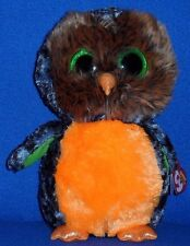 "TY BEANIE BOOS - MIDNIGHT the 9"" HALLOWEEN OWL - MINT with MINT TAG"