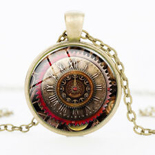 Pocket Watch Art Picture Time gem men and women pendant necklace jewelry new