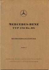 Mercedes Benz Type 170 D 1949-53 original German Betriebsanleitung Handbook