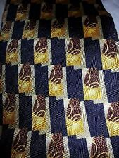 Robert Talbott Studio 100% Silk Necktie Tie USA Gold Brown Black EUC