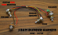 TONE MONSTER J Jazz Bass Blender Harness Balance Volume Tone 500K .047uf MIK