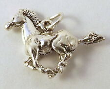 Sterling Silver Charm - 3d RUNNING HORSE - 1084