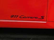 Black Porsche 911 Carrera S Emblems Pair.Genuine OEM Adhesive Stickers.