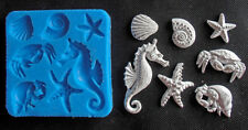 Silicone Mould SEA WITH SEAHORSE Sugarcraft Cake Decorating Fondant / fimo mold