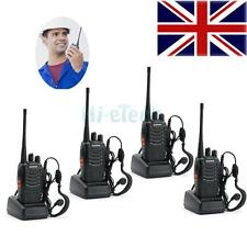 4pcs Walkie Talkie BaoFeng UHF 400-470MHZ 2Way 16CH BF-888S + Earphone Free