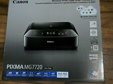 Canon PIXMA MG7720 Photo All-In-One Wireless Color Inkjet Printer Black WiFi NEW