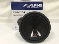"ALPINE SWR-12D4 12"" TYPE-R 4OHM CAR SUBWOOFER NEW ONE UNIT (SWR12D4) FAST SHIP!"