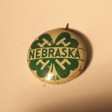 1946 Nebraska 4H Vintage Lapel Pin gift pin back green duck company chicago