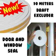 EPDM RUBBER SEAL DRAUGHT EXCLUDER 10M WHITE FOR DOORS AND WINDOWS INSULATION