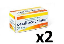 OSCILLOCOCCINUM 1g homeopathic tablets for flu, cold 2 x 30 DOSES