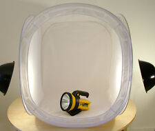 Light Tent 80cm Photo Cube Soft Box +4 colour backdrops. UK Seller/Fast Despatch
