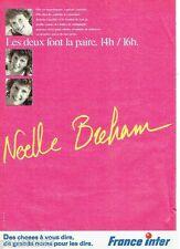 PUBLICITE ADVERTISING 116  1988   radio France Inter  Noelle Breham