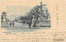 SPAIN - Barcelona - Paseo de Colon - Hauser y Menet 1901