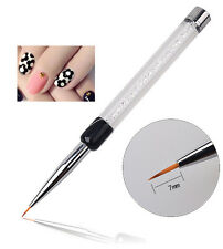 7mm Thin Fine Liner Acrylic Decor Nail Art Pen Tips Brush Painting Drawing Tool