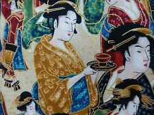 Cuarto Gordo Tela geishas japonesa algodón artesanía acolchado Oriental Jardín