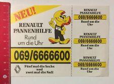 Aufkleber/Sticker: Renault Pannenhilfe - Rund Um Die Uhr (29041671)