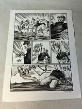 INFINITE KUNG FU original art  ZOMBIE SKELETON STABS GUY with his BONES, WICKED