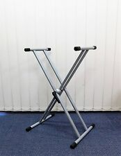 Gewa KS002 Quik-Release Double Braced Keyboard Stand – Silver Grey