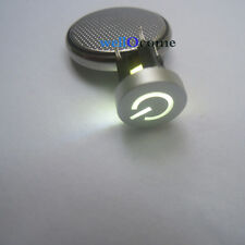2pc White LED 10mm Cap Power 12V 50mA Momentary Tact Push Button Switch