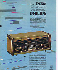 PUBLICITE ADVERTISING 074 1963 PHILIPS ligne PLANO musicalité pure